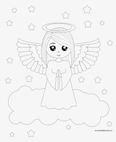 Guardian Angel Coloring Page - | 280x229