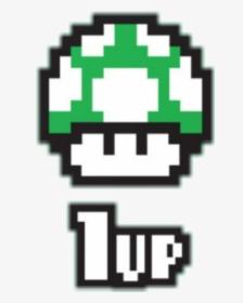 Mario 1up Mushroom 8bit Hd Png Download Transparent Png Image Pngitem