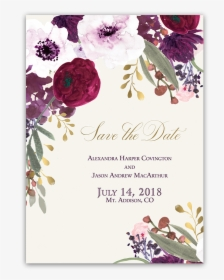 Wedding Invitation Pink Flowers Floral Rose Vector Free